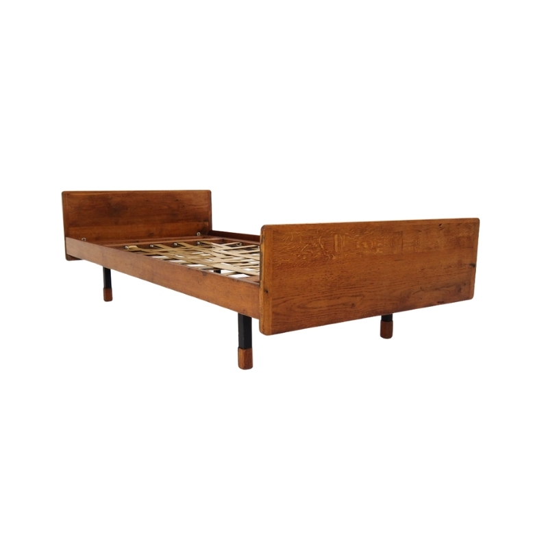 Constructivist daybed in the style of Jean Prouvé