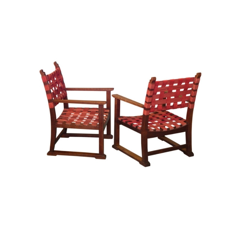 Set of Original Fireside Chairs Designed by Adolf Loos and Heinrich Kulka