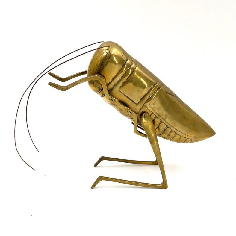 Brass Cricket sculpture figure, United Kingdom, circa 1970
