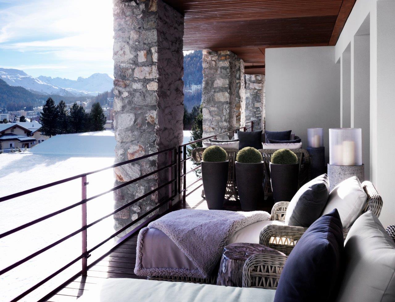 terrace winter cold deco sun