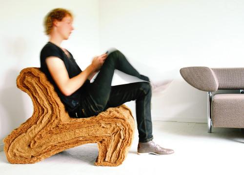 Layer Chair in Natural Fiber Composites by Jorrit Taekema