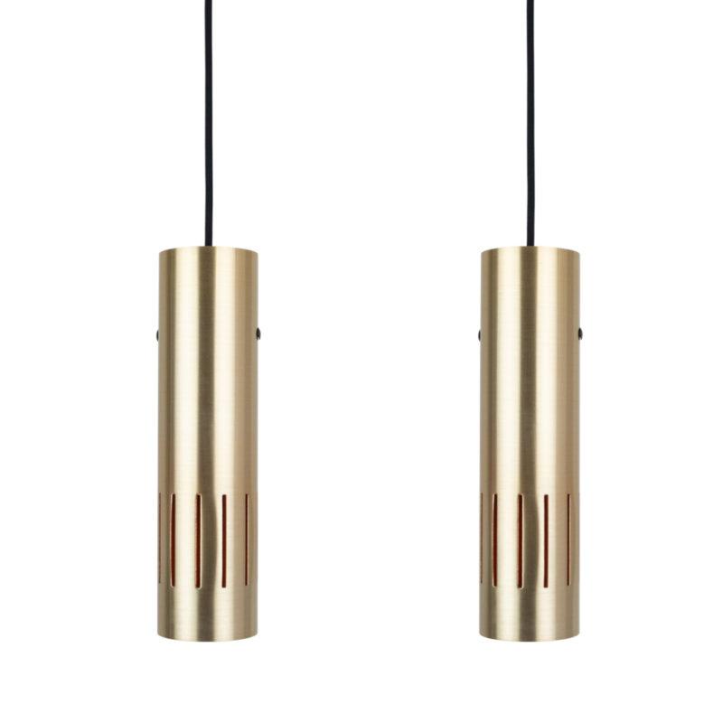 Pair of modern lamps Trombone by Jo Hammerborg, Fog & Morup, 1960