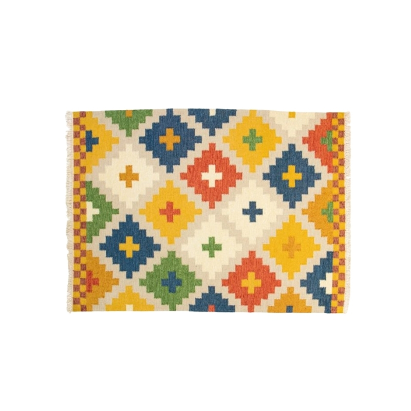 Scandinavian vintage rug. Ikea archive. 195 X 146 cm (76.77 X 57.48 in).