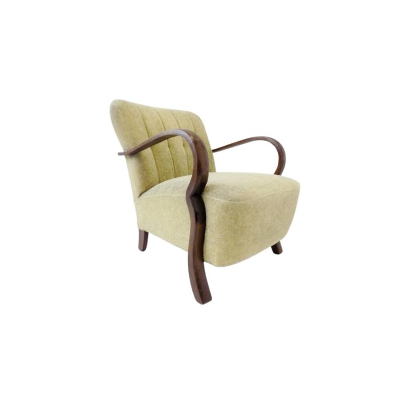 1940s German velor armchair