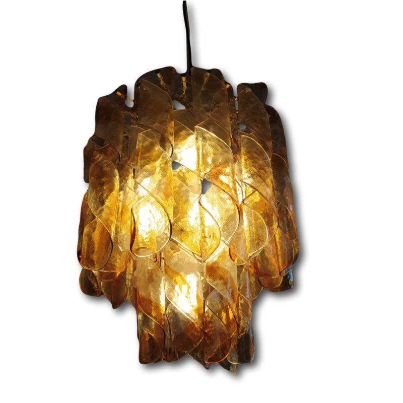 pair chandeliers Mazzega Riccioli, 70's