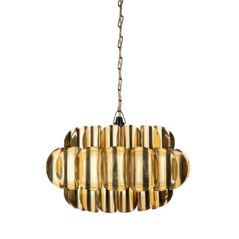 Rare brass pendant lamp by Thorsten Orrling, Hans-Agne Jakobsson, Sweden, 1960s