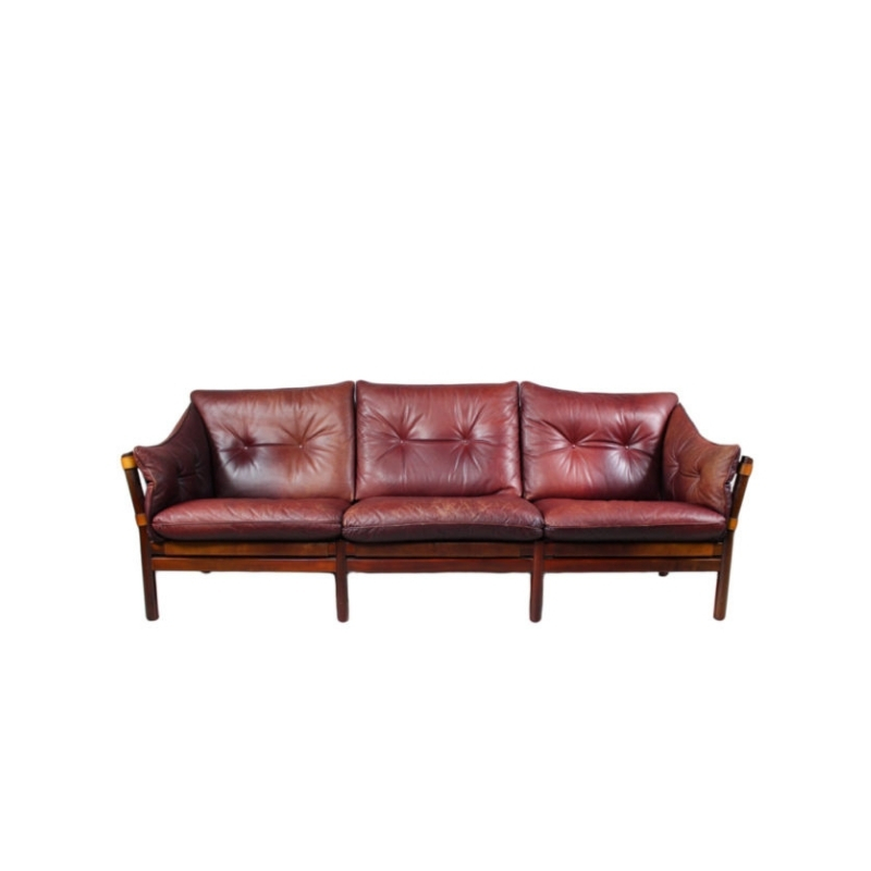 Leather Sofa Ilona By Arne Norell, Aneby Møbler, 1960s