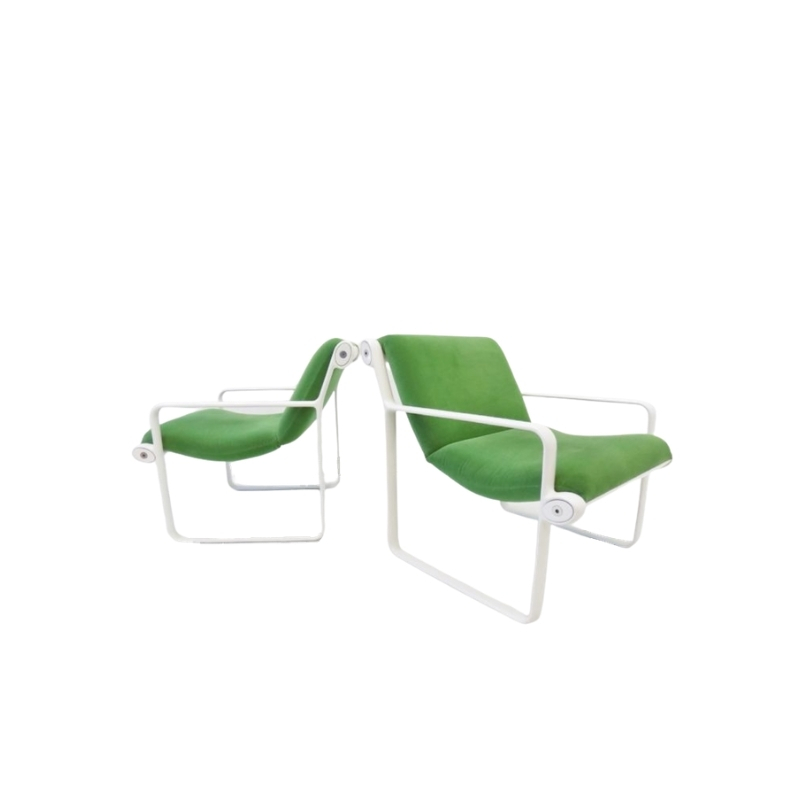 Knoll Sling 2011 lounge chair set of 2 by Bruce Hannah & Andrew Morrison
