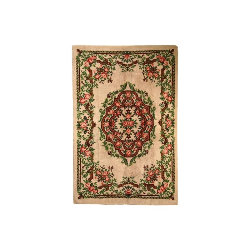 Vintage Belgian Savonnerie rug 6.5′ x 9.8′ ( 199cm x 299cm ) 1960s – 1C270