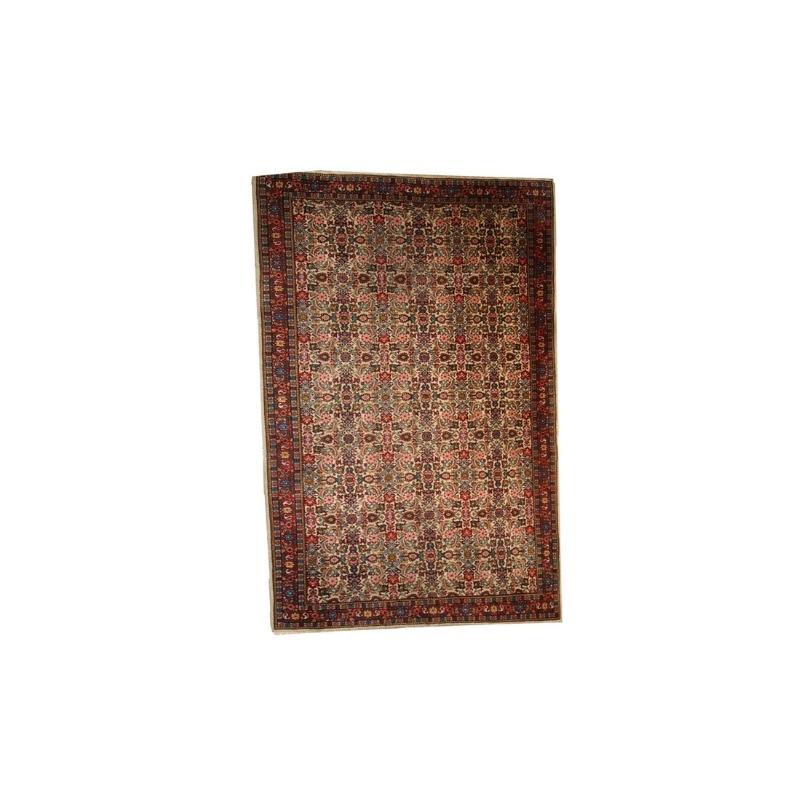 Handmade antique Indian Indo-Mahal rug 6.4′ x 10′ ( 195cm x 305cm ) 1930 – 1C274