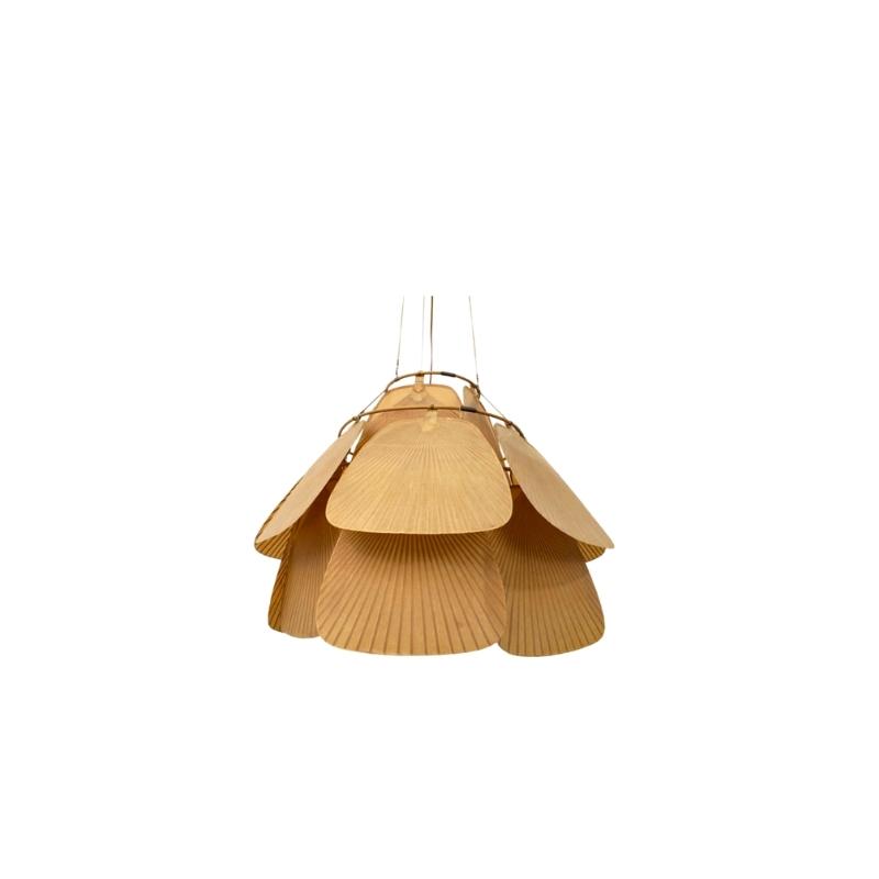 Uchiwa Ceiling Lamp by Ingo Maurer Germany 1970s.