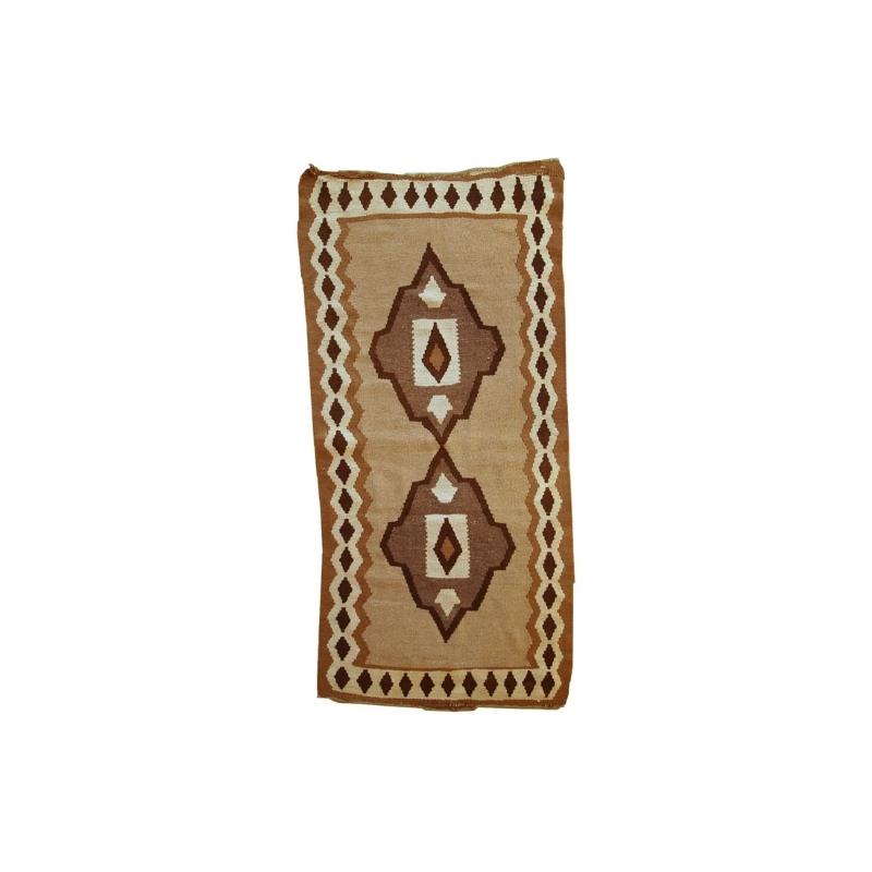Handmade antique Persian Ardabil kilim 2.9′ x 6.1′ ( 89cm x 188cm ) 1920s – 1C299