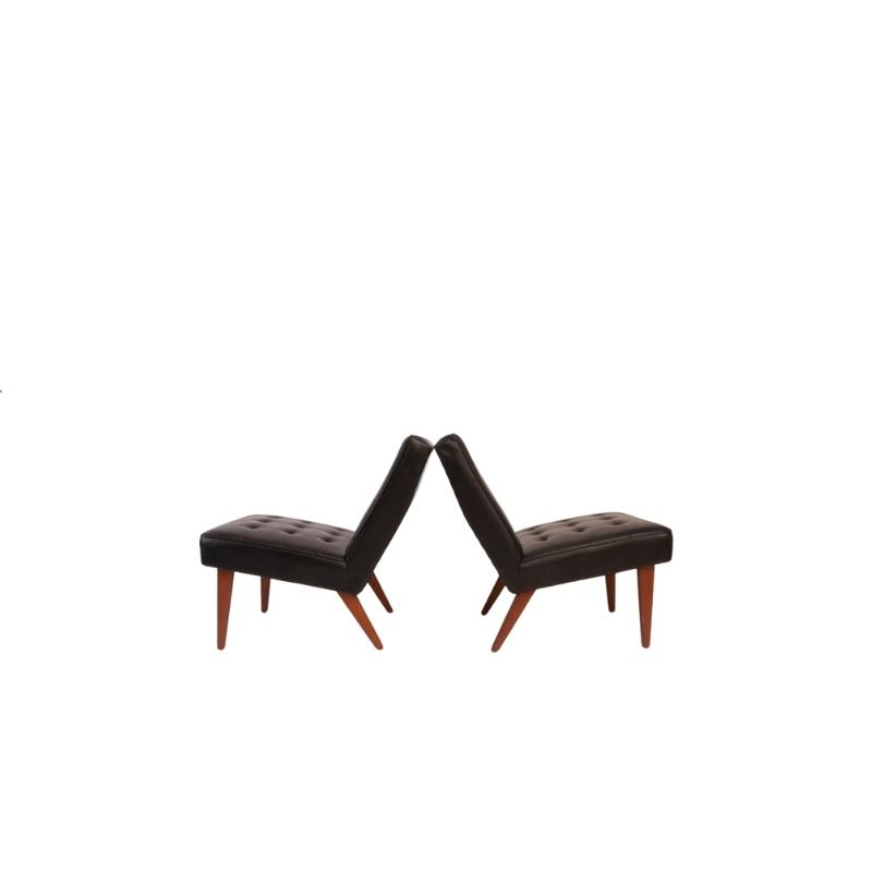 Pair Of Danish Easy Chairs