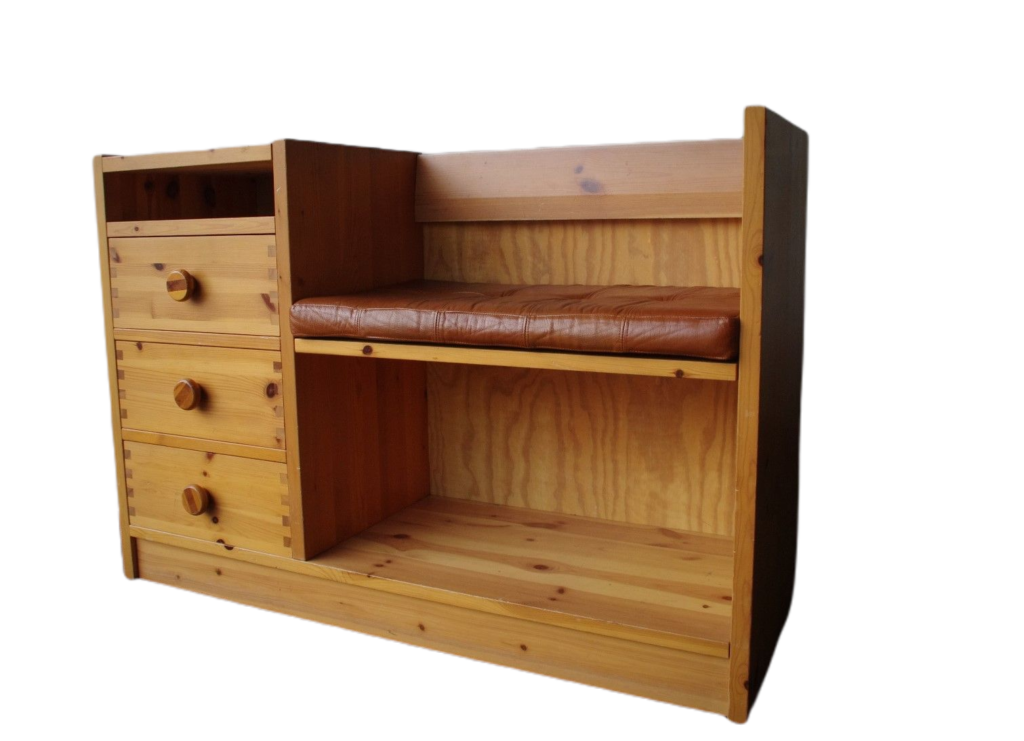 Designer cabinet, seat, 70s.