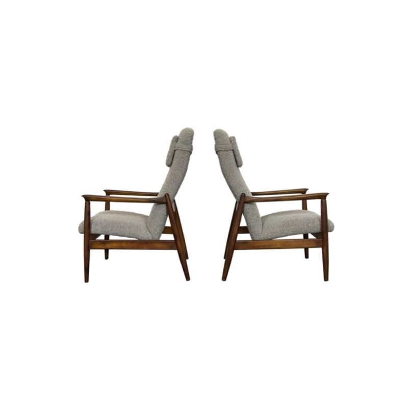 Pair of GFM-64 High Back armchairs by Edmund Homa