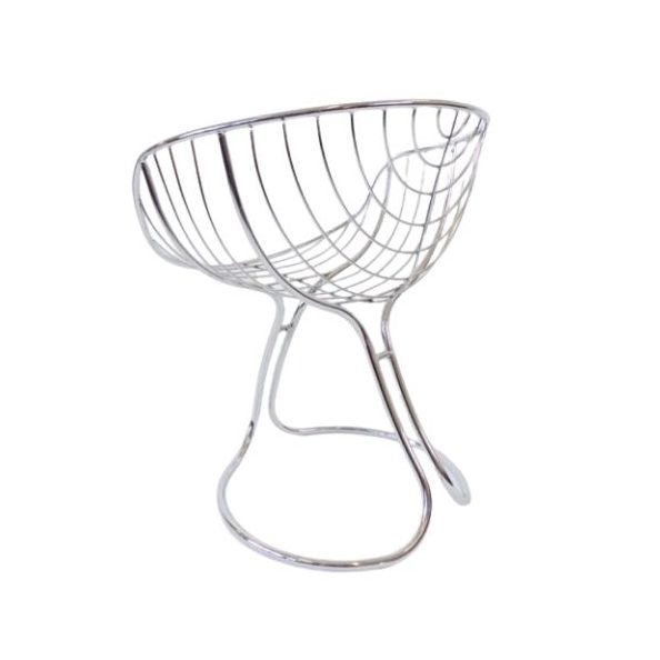 Rima Pan Am chrome dining chair by Gastone Rinald