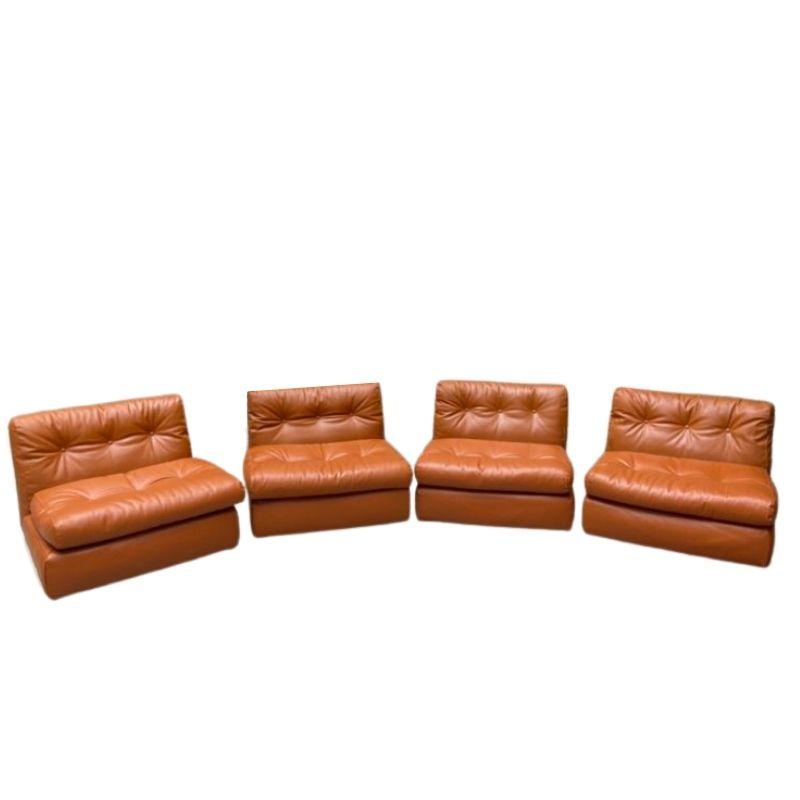 4 Amanta armchairs by Mario Bellini