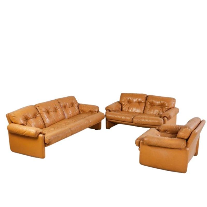 Coronado Sofa Set by Afra and Tobia Scarpa for B&B, Italy 1960s