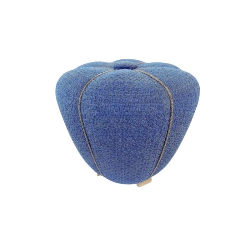 Jindrich Halabala Tabouret Pouffe blue 50's