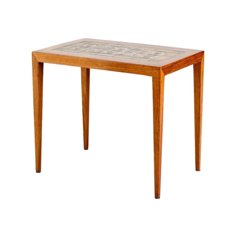 Rosewood Nesting Table by Severin Hansen, 1960s
