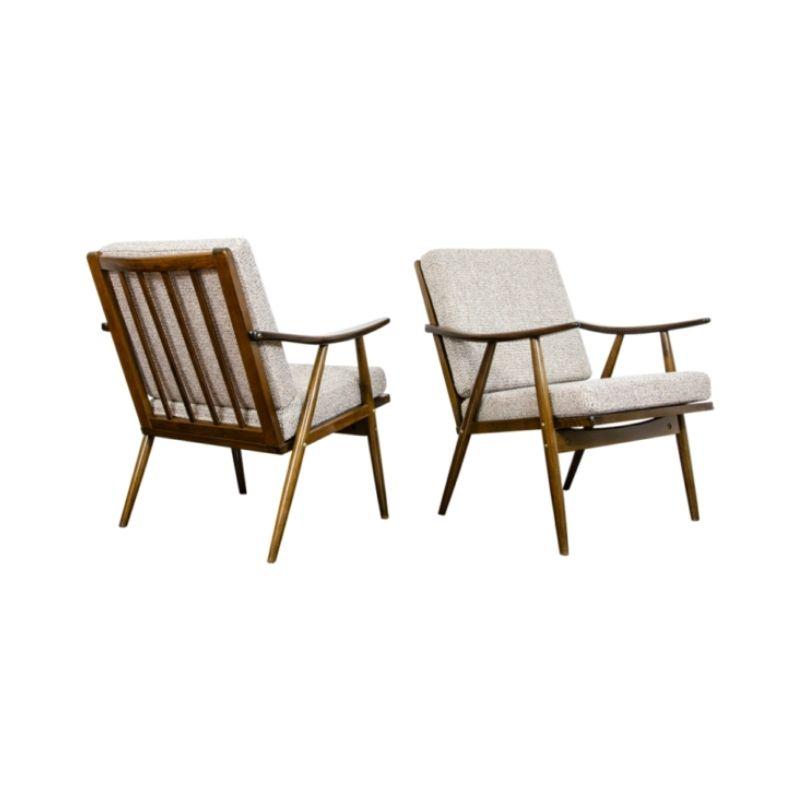 Pair of mid-century armchairs 1970's Czechoslovakia
