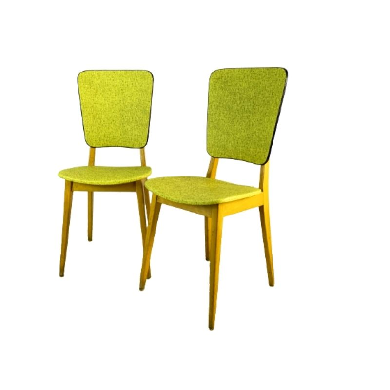 Pair of 1960's vintage mid century French cafe chairs