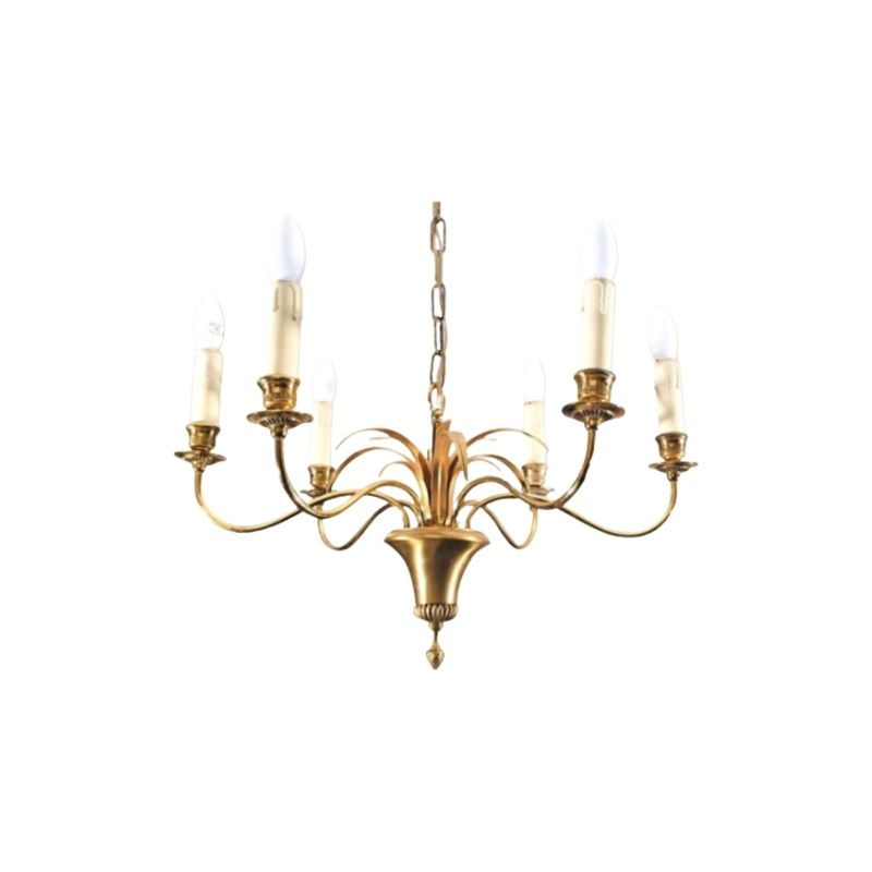 Vintage Palm tree by Maison Boulanger Chandelier
