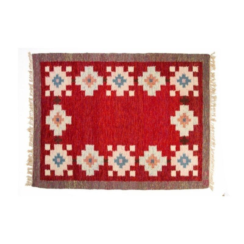 Scandinavian mid-century rug by Birgitta Södergren . 237 x 174 cm (93.31 x 68.5 in)