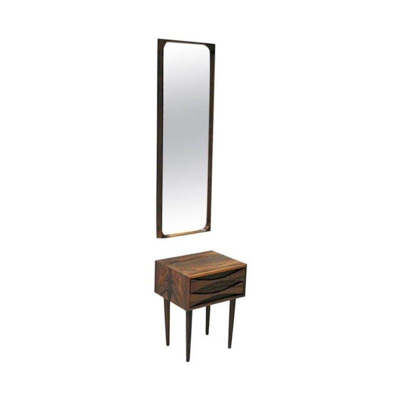 Rosewood Drawer and Mirror set by Arne Vodder for Sibast – Denmark 1960`s