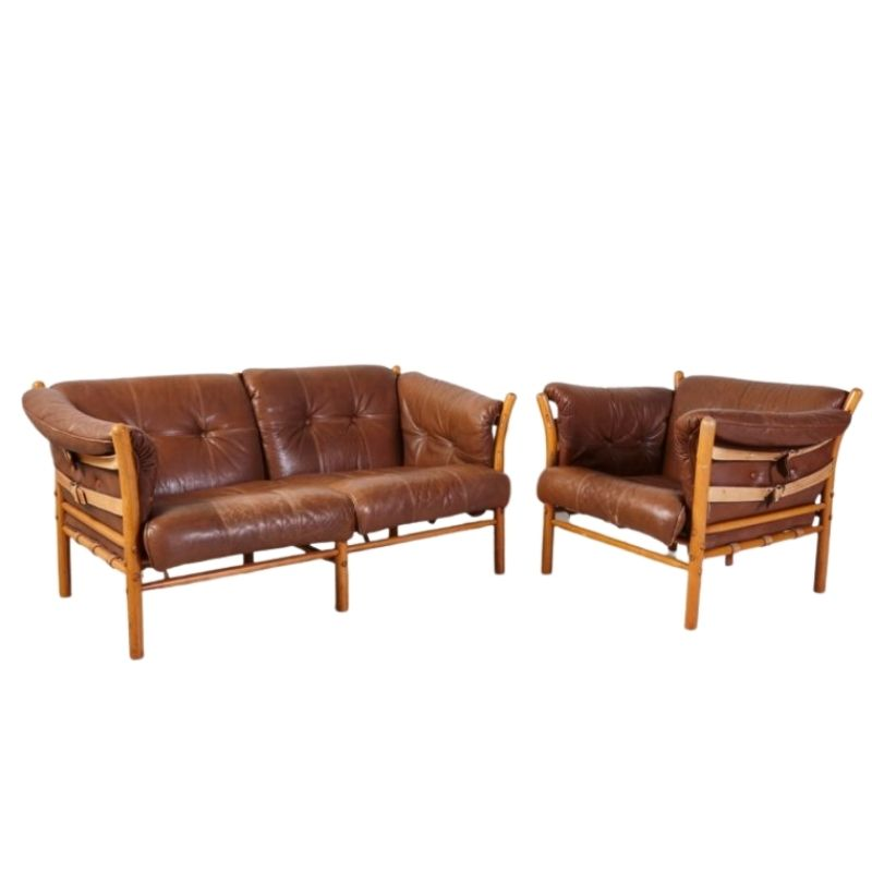 Set of Ilona Armchair and Sofa by Arne Norell