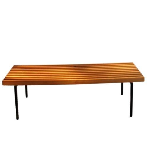 Cherrywood bars bench, 1980s