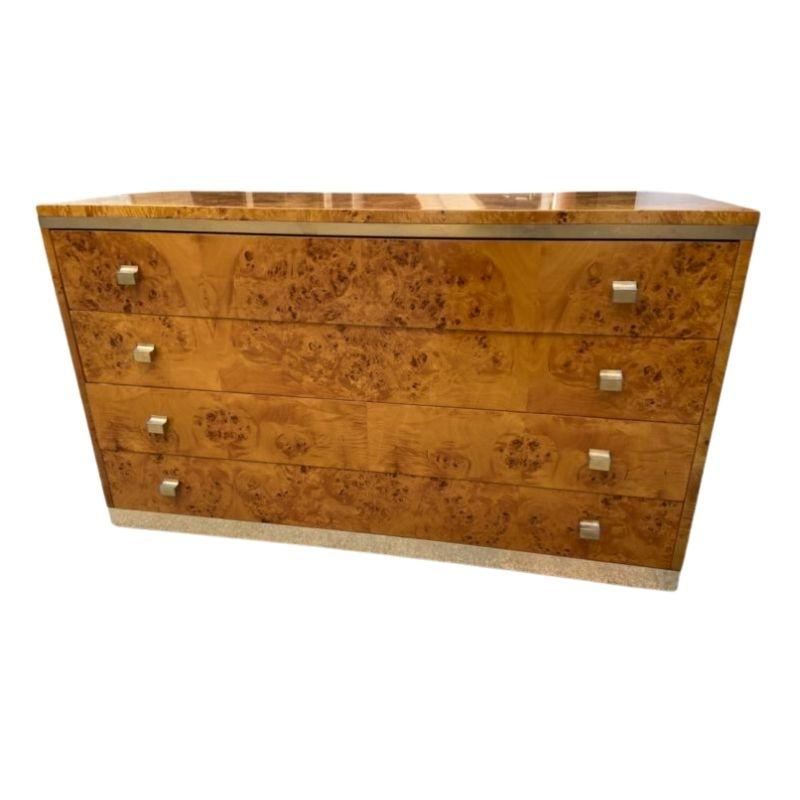Chest of 4 drawers Amboyna burl – Willy Rizzo