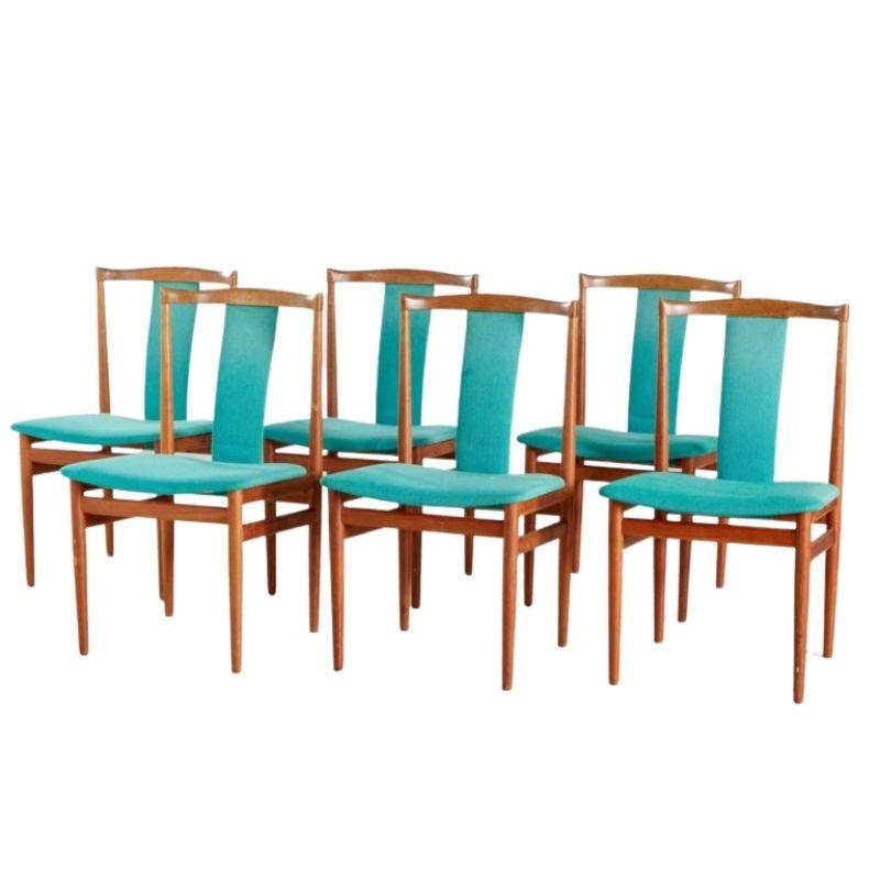 Danish Teak Dining Chairs by Henning Sørensen for Danex, 1960s, Set of 6