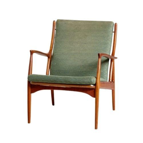 Danish Teak & Upholstery Armchair by Erik Andersen & Palle Pedersen for Horsnaes Møbler, 1960s