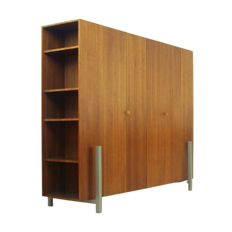Dutch Walnut Wardrobe & Room Divider by Bisscheroux'S for Laurens Westhoff & Jadé Interieur Staalwerk, 2003