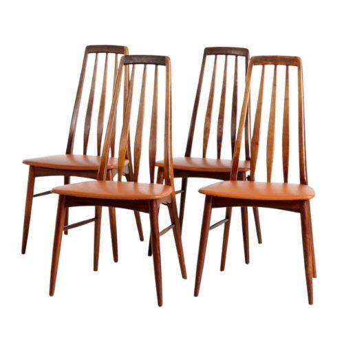 Eva Dining Chairs by Niels Koefoed for Koefoed Hornslet, 1960s, Set of 4