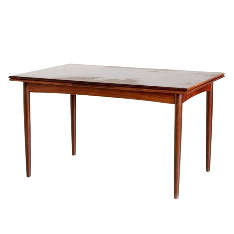 Extendable Danish Rosewood Dining Table, 1960s