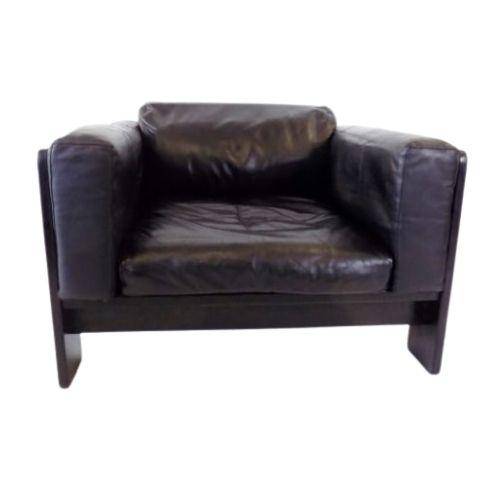 Gavina : Knoll Bastiano leather armchair by Afra & Tobia Scarpa