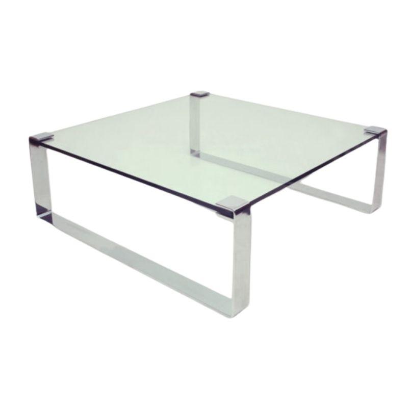 German Chrome & Glass Coffee Table, Model Klassik 1022 by Dr. Peter Draenert, 1960s