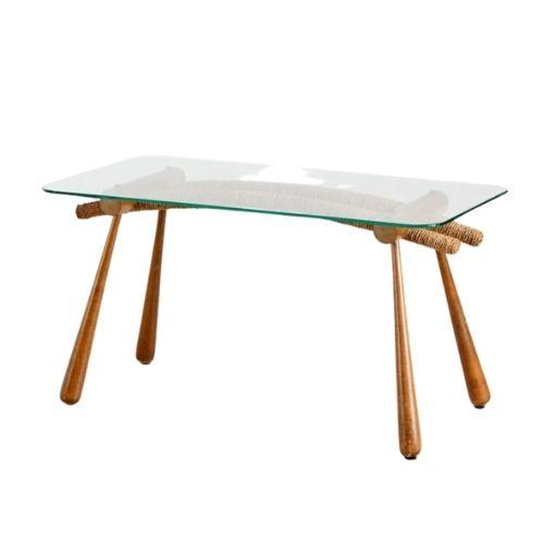 Glass Top Coffee Table by Max Kment for Kunstgewerbliche Werkstätten, 1950s