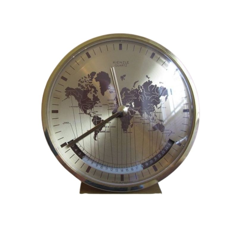 Kienzle clock, model Weltzeituhr Heinrich Möller Germany 1970