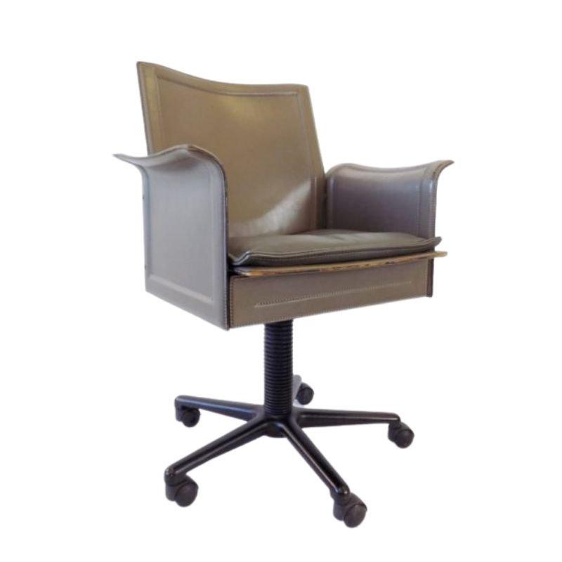 Matteo Grassi Korium leather office chair by Tito Agnoli