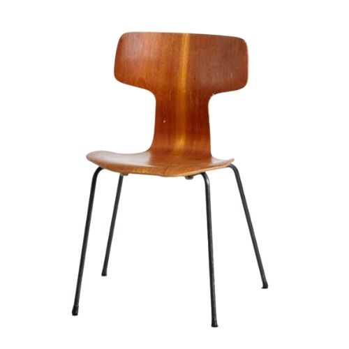 Model 3103 Side Chair by Arne Jacobsen for Fritz Hansen, 1950s