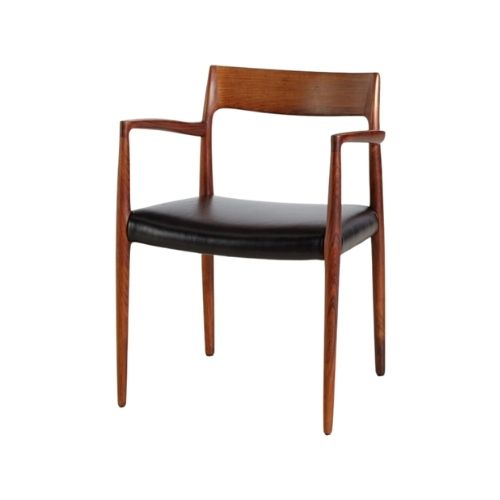 Model 57 Rosewood Armchair by Niels Otto Møller for J.L. Møllers, 1960s