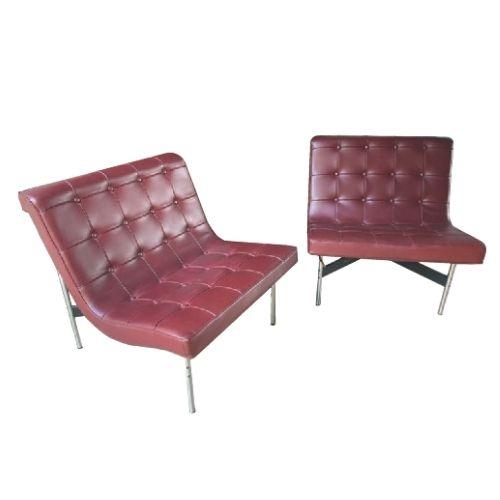Pair of New York armchairs – William Katavolos, Ross Little and Douglas Kelly