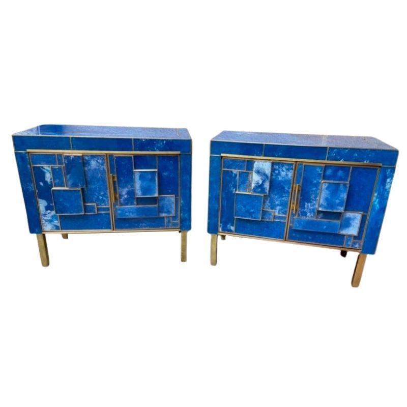 Pair of small sideboards : nightstands 2 doors