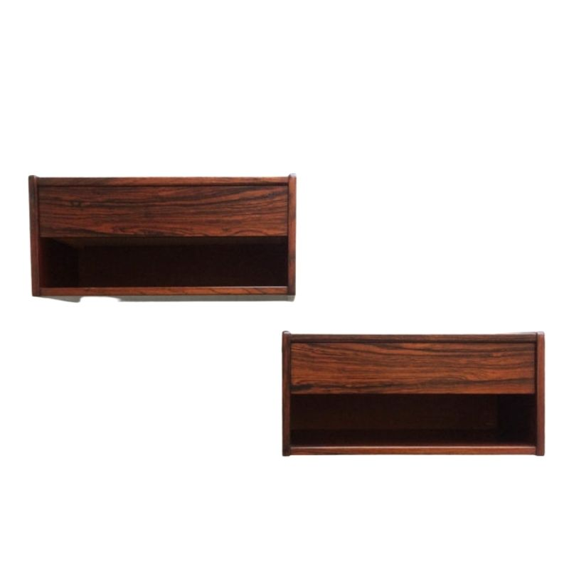 Pair of wall mounted bedside tables