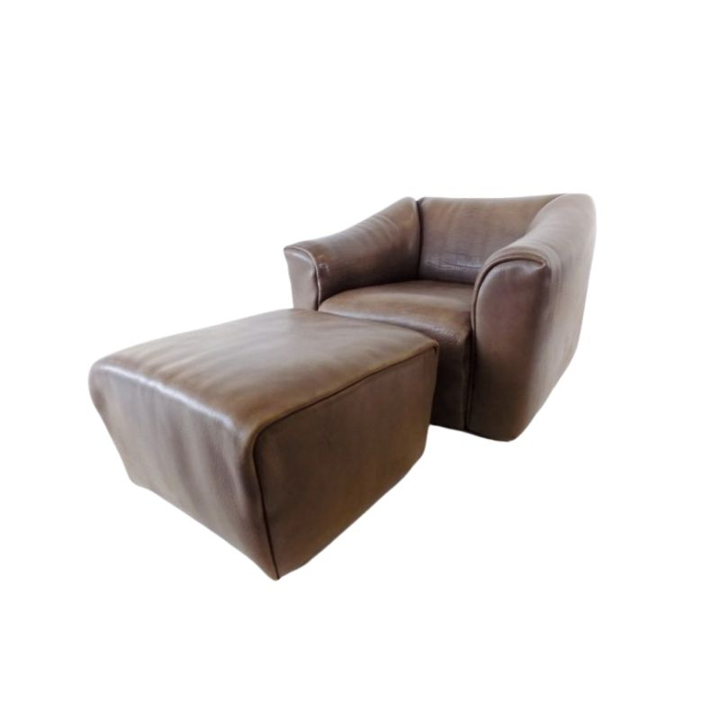 De Sede DS 47 leather armchair with ottoman