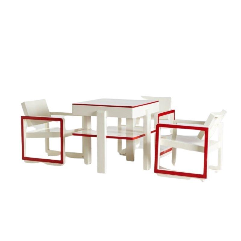 Red & White Bauhaus set