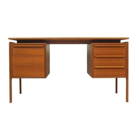 Danish Teak Desk by G.V. Møbler, 1960s